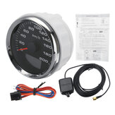 85mm 9-32V 120km/h 200km/h GPS Speedometer Odometers Gauge LCD Display With 8 Color Backlight