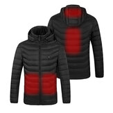 Electric USB Heated Vest Jacket Coat Warm 4 Heating Area Cloth Body 3 Levels