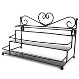 3 Tiers Alloy Nagellakse Display Organizer Rack Stand Cosmetische Make-up