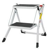 Folding Ladder Stool Anti 150KG Max Weight 2 Step Slip Safety Stool Dual-purpose Herringbone Ladder