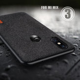 Bakeey Luxury Fabric Splice Soft Silicone Edge Shockproof Protective Case For Xiaomi Mi MIX 3