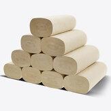 10 قطع ورق التواليت 4 رقائق لفة flushable الغذاء الرئيسية لفات الأنسجة لب الخيزران