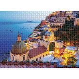 1000 PCS DIY Peitoril Da Janela Cat / Amalfi Paper Jigsaw Puzzle Descompressão Educacional Brinquedos Indoor