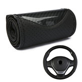 38cm Microfiber Leather Steering Wheel Case Leather Braiding Car Wheel Cover