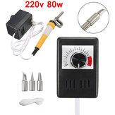 220V 80W temperatura ajustável cabaça máquina de madeira multifunção Pyrography máquina de aquecimento Wire Kit Pen