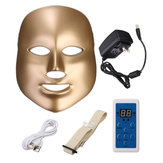 LED Photon Skin Rejuvenation Facial Neck Máscara Beauty Therapy Machine Reafirmante Apertando 7 cores