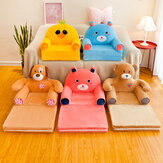 Cartoon Cute Faltbare Baby Sofabezug Keine Füllung Babysitz Lazy Person Chair Toys