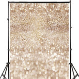 3x5FT  5x7FT Vinyl Beige Glitters Shining Photography Background Backdrop Studio Prop
