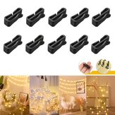 10PCS Gutter Hook Heavy Duty Clips for Christmas Party LED Icicle Fairy Light