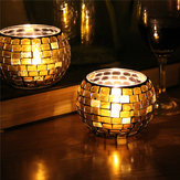 Handicraft Mosaic Glass Colors Strip Candle Varanda Candle Holder Candelabra Home Decor Gift