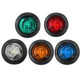 5pcs 24V Round LED Side Marker Light Indicator Lamp Truck Trailer Caravan Van