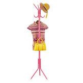 Coat Stand Garment Rack Shelf Metal Jacket Umbrella Hanger Standing 12 Hook