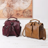 Women Multi-carry Faux Leather Multi-pockets Crossbody Bag