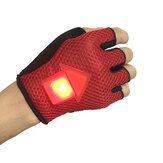 BIKIGHT Gravity Sensor Vänd Signal Bike Gloves LED Light Automatisk Induktions Varning för Cykling Running