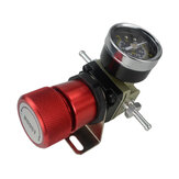 1-150 PSI Universal Coche Controlador Turbo Boost de calibre manual ajustable Rojo