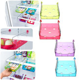Fridge Space Saver Organizer Slide Under Shelf Rack Home Holder Storage Kitchen