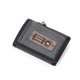 Porte-cartes portefeuille léger pour hommes, toile décontractée