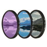 Camera Lens Filter Kit Set UV CPL FLD 3 In 1 Bag for Canon for Other Digital 1