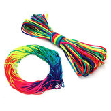 31 / 100m Nylon Colorful Rainbow Rope Lanyard Tent Outdoor Garden Hanging Rope 7 strand Parachute Cord