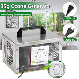 35g/h 110V/220V Ozone Generator Air Purifier Sterilizer with Timing Switch