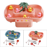 Fishing Game Table Parent-child interaction Early Educational Puzzle Toy with 6 Duck Light and Music for Kids Birthday Gift