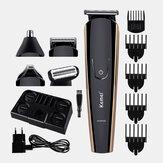 KEMEI KM526 Tondeuse à cheveux électrique multifonction USB Rechargeable Nose Hair Hair Beard Clipper Cutter