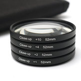 52MM Close Up Kit Lensa Makro +1 +2 +4 +10 untuk Kamera Digital SLR DSLR