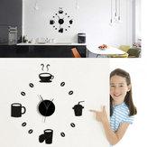 Honana دكس-X3 الإبداعية 3d الاكريليك مرآة الجدار ملصق الكوارتز ساعات مشاهدة كبير ديكور المنزل