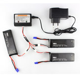 3 x 7.4V 2700mAh 10C Battery & Charger Set for Hubsan H501S H501C X4 RC Quadcopter