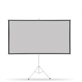 Thinyou Tripod Projector Screen  100 inch Projector Curtain 16:9/4:3 Matte Gray Fabric Fiber Glass Bracket For HD Projector with Stand Tripod