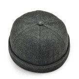 МужчиныТвердыефранцузскиебриллиантовыешляпыФланец Skullcap Sailor Cap