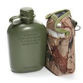 Butelka na wodę BIKIGHT 1L Zieleń wojskowa Water z pokrowcem na odzież do jazdy na rowerze Outdoor Sports