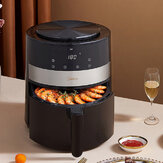 Midea MF-KZ45E01 Air Fryer 4.5L Large Capacity 1350W Electric Hot Air Fryers Oven Oilless Cooker LED Digital Touchscreen 360° Cycle Heating Nonstick Basket