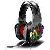M8 7.1-Kanal-Gaming-Headset RGB-kabelgebundener Spielkopfhörer Einstellbarer Bass-Stereo-Headset mit Mikrofon für Computer-PC-Spieler