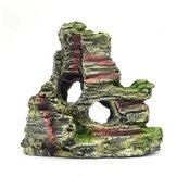 Resina Aquário Ornamento Rochoso Escondendo Montanha Cave Paisagem Decoração de Aquário