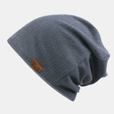 Unisex Thickened Winter Keep Warm Wool Cap Brimless Solid Color Knit Hat