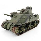 EXBONZAI 1/16 2.4ghz RC Tank RTR Handgemaakte Simulatie Full Metal W/light & Sound 360 Graden Torentje Rotatie Afstandsbediening Voor Amerikaanse M3 RC Auto Voertuigen Model