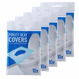 10Pcs/1Set Disposable Paper Toilet Seat Covers Camping Loo wc Bacteria-proof Cover for Travel, Camping Bathroom