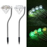 4Packs solare Luci da giardino per esterni LED solare Luci di passaggio alimentate Illuminazione di paesaggi in acciaio inossidabile per prato Patio Cortile Passerella Vialetto