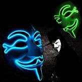 Halloween V per Vendetta Maschera LED Scary EL-Wire Maschera Light Up Festival Cosplay Costume Forniture Party Maschera
