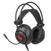 Auriculares para juegos K16 Sistema de efectos de sonido envolvente Exquisito 7 colores LED Luces Reducción de ruido omnidireccional Micrófono