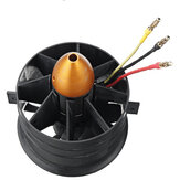 Taft Hobby 90mm 11 Blades Ducted Fan EDF with 3553 KV1550 Outer Rotor Brusheless Motor 3.8KG Thrust Support 8S 80A-HV ESC for Fixed Wing RC Airplane Accessories
