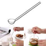 Borosilicato strumenti cucchiaino da caffè cucchiaino di zucchero caffè paletta di agitazione in vetro trasparente