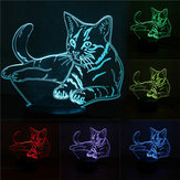 3D Leuke Cat Nachtlampje USB Charge Touch Control 7 Kleurverandering LED Bureaulamp Room Decor Gift