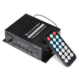 AK9 40 W Mini amplificador de potência de áudio do carro bluetooth HIFI Digital AMP FM Radio SD Card U Disk AUX Input 12 V