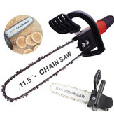 11.5 Inch Chainsaw Bracket Woodworking Tool Change 100 Angle Grinder Into Chain Saw
