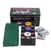 Professional Casino 200 Piece TEexas Hold'em Poker Game Play Set Comes In Tin Box Tool