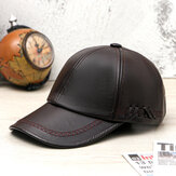 Personalità del berretto da baseball vintage in pelle PU da uomo Collrown con cappello in tessuto