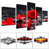 5 Panels Unframed Modern Canvas Art Oil Painting Picture Room Wall Art Pictures Home Wall Decoration Supplies