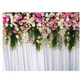5x3FT 7x5FT Flower Wall Studio Silk Backdrop Photography Prop Photo Background